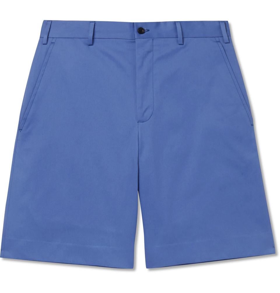 Cotton-twill Shorts - Blue