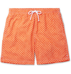 Anderson & Sheppard Slim-Fit Mid-Length Paisley-Print Swim Shorts
