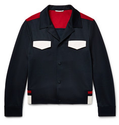 Valentino - Slim-Fit Colour-Block Jersey Blouson Jacket