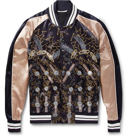 + Zandra Rhodes Printed Satin Bomber Jacket by Valentino