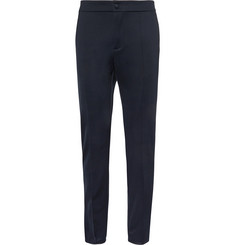 Valentino Stripe-Trimmed Stretch-Jersey Trousers