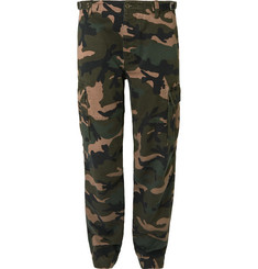 Valentino Slim-Fit Camouflage-Print Cotton Cargo Trousers