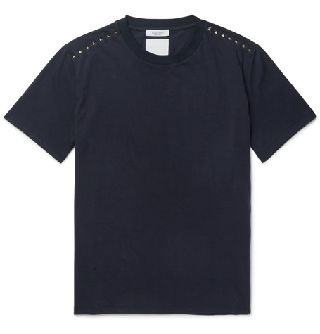 Rockstud Cotton Jersey T Shirt by Valentino
