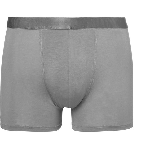 Stretch-jersey Boxer Briefs - Gray