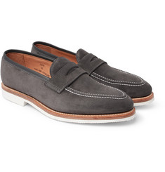 George Cleverley Capri Suede Penny Loafers