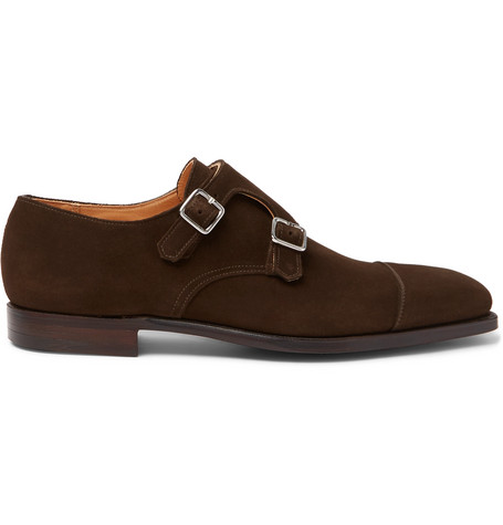 GEORGE CLEVERLEY Thomas Suede Monk-Strap Shoes