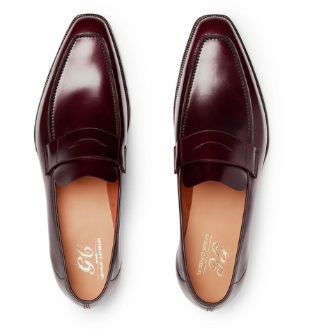 George Horween Shell Cordovan Leather Penny Loafers - NavyGeorge Cleverley gUb7MyrHd
