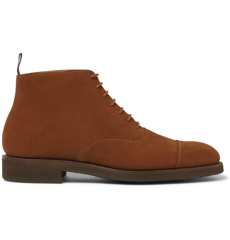 GEORGE CLEVERLEY William Cap-Toe Suede Boots