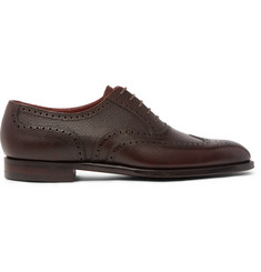 George Cleverley Reuben Full-Grain Leather Wingtip Brogues