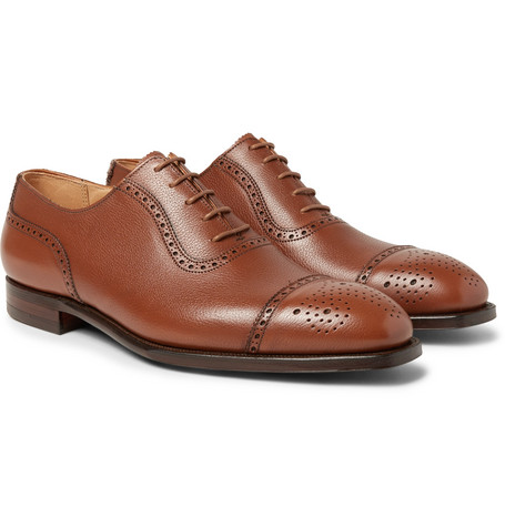 Adam Full-grain Leather Oxford Brogues - Tan