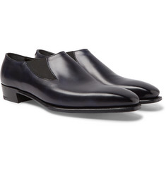 George Cleverley Anthony Cleverley Burnished-Leather Loafers