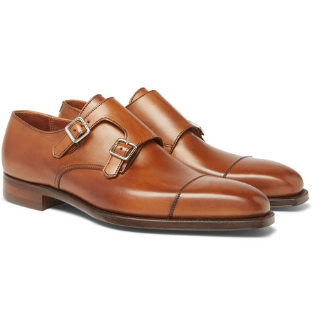 Thomas Leather Monk-strap Shoes - BrownGeorge Cleverley CrCEpT30j