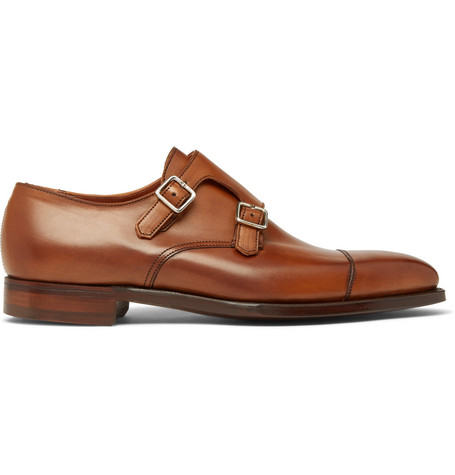 GEORGE CLEVERLEY Thomas Leather Monk-Strap Shoes