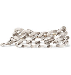Foundwell Silver and Gold-Tone Chain Wrap Bracelet