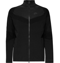 Nike Sportswear Slim-Fit Shell-Panelled Tech Knit Jacket
