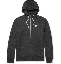 Nike Legacy Mélange Loopback Cotton-Jersey Zip-Up Hoodie