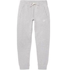 Nike Legacy Slim-Fit Tapered Mélange Cotton-Jersey Sweatpants