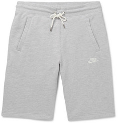 Nike Legacy Slim-Fit Mélange Cotton-Jersey Drawstring Shorts