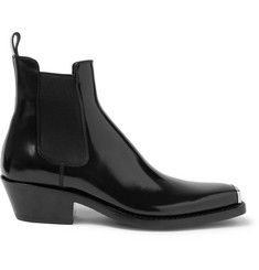 CALVIN KLEIN 205W39NYC Chris Metal Toe-Cap Leather Boots