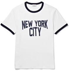 Sandro Printed Cotton-Jersey T-Shirt