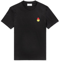 AMI + The Smiley Company Slim-Fit Appliquéd Cotton-Jersey T-Shirt