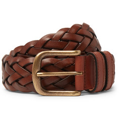 Anderson & Sheppard 35mm Woven Leather Belt