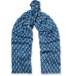 Anderson & Sheppard Printed Silk and Cashmere-Blend Twill Scarf