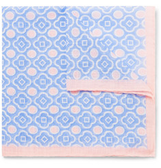 Anderson & Sheppard - Printed Cotton-Voile Pocket Square