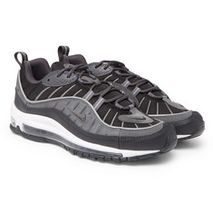 Nike - Air Max 98 SE Mesh, Leather and Suede Sneakers
