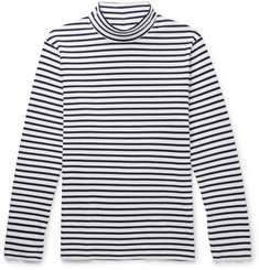 Mr P. - Striped Cotton-Jersey Rollneck T-Shirt