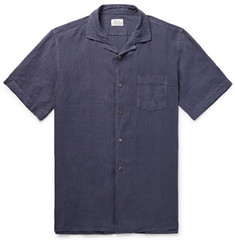 Hartford Camp-Collar Linen Shirt