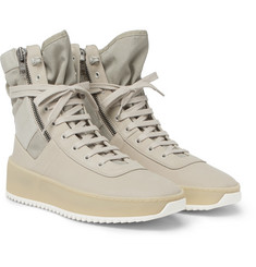 Fear of God - Military Nubuck and Mesh High-Top Sneakers
