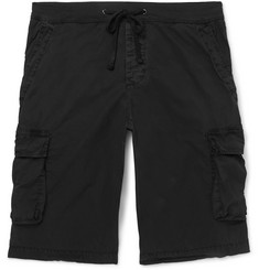 James Perse Stretch-Cotton Drawstring Cargo Shorts