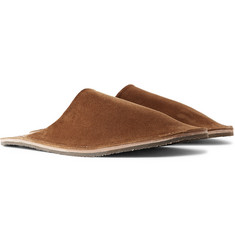 Viberg - Suede Backless Slippers