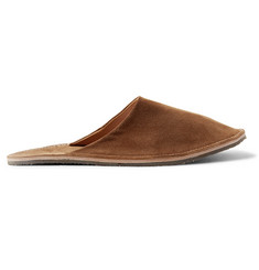Viberg Suede Backless Slippers