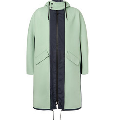 Valentino Shell-Panelled Wool and Cashmere-Blend Fishtail Parka