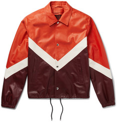 Valentino Chevron Leather Jacket