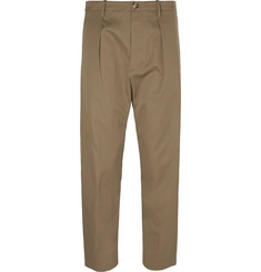 Valentino - Cropped Cotton Trousers
