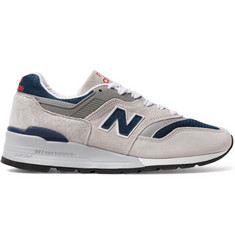 New Balance 997V1 Suede and Mesh Sneakers