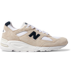 New Balance 990V2 Suede and Mesh Sneakers