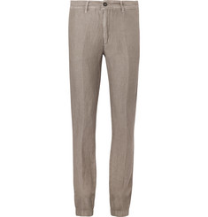 Massimo Alba - Slim-Fit Linen and Cotton-Blend Suit Trousers