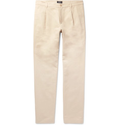A.P.C. Florian Slim-Fit Cotton and Linen-Blend Gabardine Chinos