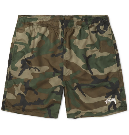 STUSSY Camouflage-Print Shell Shorts