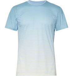 Adidas Sport Melbourne Striped Climalite Tennis T-Shirt