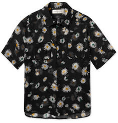 Saint Laurent Slim-Fit Floral-Print Virgin Wool-Voile Shirt