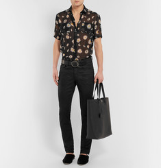 Saint LaurentSlim-Fit Floral-Print Virgin Wool-Voile Shirt