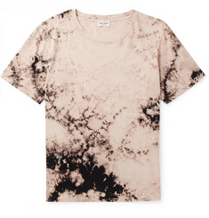 Saint Laurent Tie-Dyed Cotton-Jersey T-Shirt