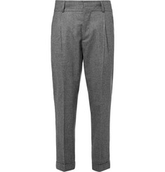 Kent & Curwen Tapered Prince of Wales Checked Wool Trousers