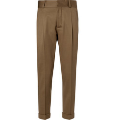 Kent & Curwen Tapered Felted Wool-Blend Trousers