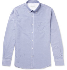 Officine Generale Antime Button-Down Gingham Cotton Oxford Shirt